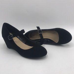 MADELINE STUART Black Mary Jane Wedges